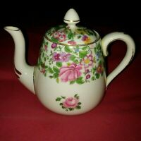 CROWN STAFFORDSHIRE ANTIQUE BONE CHINA TEAPOT WITH LID MADE IN ENGLAND 6