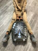 ALEXANDER McQUEEN Samsonite Silver Rib Cage Upright Luggage Limited Edition