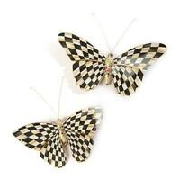 MacKenzie-Childs Handmade Butterfly Duo - Courtly Check
