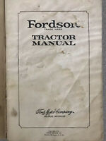 1923 Rare Fordson Tractor Manual. Ford Motor Company
