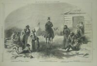 vintage print 1865 Solution of the Labor Question in the South reconstruction