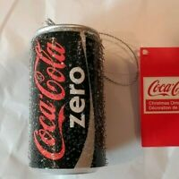 COKE COCA COLA ZERO FROSTED CAN CHRISTMAS ORNAMENT