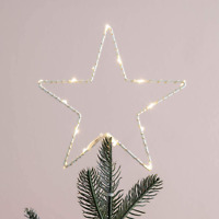 Lights4Fun Inc. 12quot; Star Battery Operated Micro Warm White Led Christmas Tree T