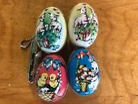Sweet EASTER EGG Murray Allen Tin Candy Containers 4pcs