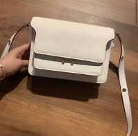 Marni medium trunk white pink bag with flaw