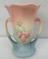 Old Hull Pottery Wildflower Vase W3 5 1 2 1946 Pink Blue