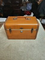 Vintage Samsonite Travel Train Makeup Vanity Streamline Luggage Case