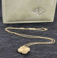 Van Cleef And Arpels Vintage Alhambra Yellow Gold Pendant