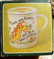 Vintage Brothers Are Forever Coffee Mug Cup Puppy Dog JSNY Taiwan Sibling Gift