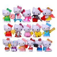 16pcs Set Hello Kitty Figure Toy Kids Cake Toppers Style Mini Size New Girl Gift