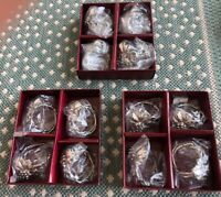 3 Vintage Sets of 4 ARTHUR COURT GRAPE NAPKIN RINGS 12 rings total New in Box