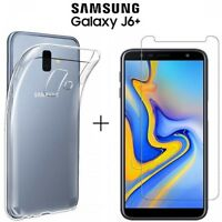 Cover for Samsung Galaxy J6 Plus Case Film Tempered Glass 9H UHD $11.68