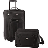 2 Piece Softside Set Carry On Boarding Bag Travel Suitcase Lightweight Luggage