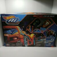 Ai Intelligent Race System Starter Kit Hot Wheels With 2 Smart Cars Toy TESTED $45.00
