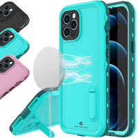 Waterproof Shockproof Case Cover For Apple iPhone 12 Pro Max 12 Mini w Kickstand