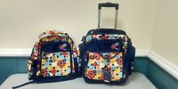 Disney Minnie Mouse Kids Rolling Wheeled Suitcase amp; Backpack Set