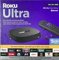 Roku Ultra 4K HDR Dolby Vision Streaming Device w Voice amp; Lost Remote **New** $79.78