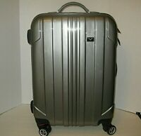 CORVETTE GM LOGO 22quot; GREY HARD LUGGAGE Suitcase SPINNER Travel Racing NWT