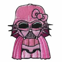 Hello PINK Darth Vader Kitty with VELCRO® BRAND Hook Fastener Patch