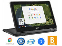 Dell 11 Chromebook 3189 TouchScreen 2in1 Tablet 11.6quot; Intel 1.6GHZ 4GB RAM 16GB $104.99