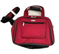 New Samsonite Red Laptop Bag Carry On Travel Bag Size 17x12x6 Lots Of Pockets