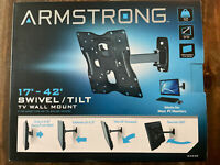 """Armstrong Swivel amp; Tilt Universal TV Wall Mount 17"""" to 42"""" New In Box $19.99"""