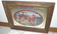 SEAGRAMS SEVEN CROWN SPORTS COLLECTION FRAMED MIRROR 1933 1st NFL CHAMPIONSHIP