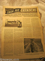 Farquhar Iron Age farm news paper agriculture farming implement advertising