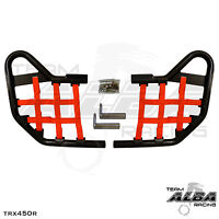TRX 450R TRX450R Honda  Nerf Bars  Alba Racing   Black bar Red nets  218 T1 BR