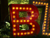 Vintage Marquee Light Theater  art B 24 X 23 X 5 each Letter