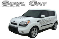 Original Cat Paw Hood Side Rear Vinyl Graphics Decals fits Kia Soul by MoProAuto
