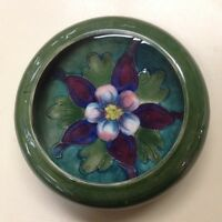 MOORCROFT PIN DISH/BOWL - Columbine Flower   -  GORGEOUS !