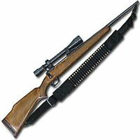 NYLON 15 ROUND SAVAGE RIFLE SLING BULLET SHELL BANDOLIER BY ACE CASE - USA