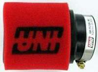 UNI 2 Stage 15° Angled 2.5quot; ID 4quot; Long Clamp On Pod Motorcycle ATV Air Filter