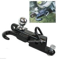 New ATV Receiver Trailer Hitch 3 Way 2 Inch Hitch Ball Hitching Towing Closed