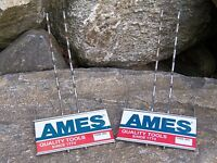 2 Vintage Ames Hardware Store Tool Display Racks Metal Signs Advertising