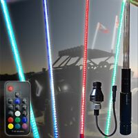 5ft 20 Color 200 Combination LED Lighted Whip ATV UTV RZR YXZ CanAm X3 Off Road
