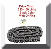 With/O-Ring Drive Chain Black Color Pitch 530x150 Links Fits: ATV Motorcycles