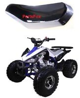 Silver and Black Seat for TaoTao Cheetah XR ATV 110cc Quad Small Kawasaki Bike