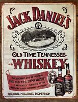 JACK DANIELS Whiskey Picture Poster Metal Tin Ad Sign Bar Wall Decor Gift