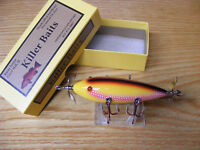 Killer Baits Rusty Jessee Heddon 300 Style Glasseye 5 Hook Red Yellow White Scal