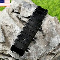 Black Rifle Scope Mount Base Dovetail Weaver Picatinny Rail Adapter 11mm to 20mm