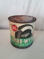 Rare! Vintage Whiz Tyre Wyte Tire Whitener 16oz Tin Can with contents