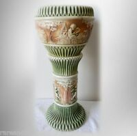 Roseville Donatello art pottery jardiniere and pedestal