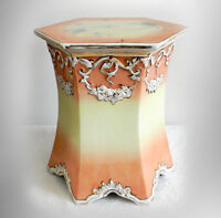 Wheeling Pottery LARGE vintage stand VERY RARE with gold