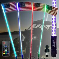 3ft 20 Color 200 Combo LED Whip-Remote-Orange Flag-ATV-UTV-RZR-YXZ-Buggy-OffRoad