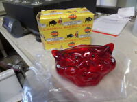 Vintage Tinku Madbull Cat Face Taillight Tail Brake Lamp Light Chopper Bobber