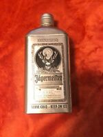 JAGERMEISTER  LIQUEUR SILVER/PEWTER  TIN CAN -Collectible-vintage