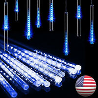 Solar LED Meteor Shower Lights Falling Raindrop Icicle String Lights Waterproof