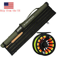 Fly Fishing Rod with Reel Combo 36T Carbon Fiber Fly Rod CNC Fly Reel Kit